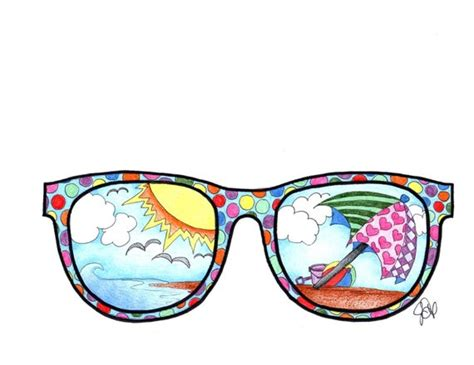 Sunglasses Coloring Page