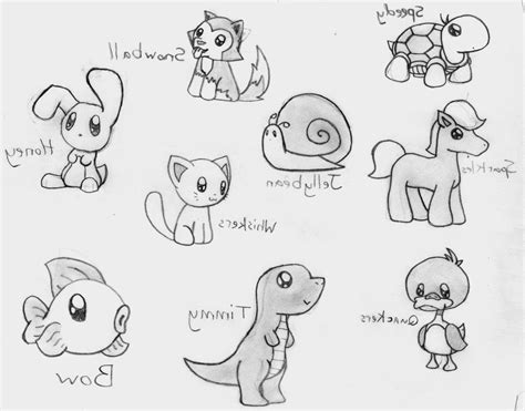 Easy Cute Animal Drawings - DRAWING ART AND SKETCHES