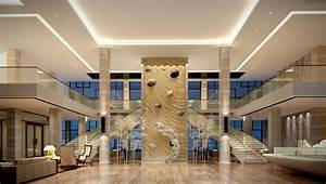 SPA Lobby Interior Design Rendering 3D