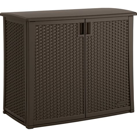 Patio Storage Cabinet by Suncast 42 25 In X 23 In Outdoor Patio Cabinet Bmoc4100