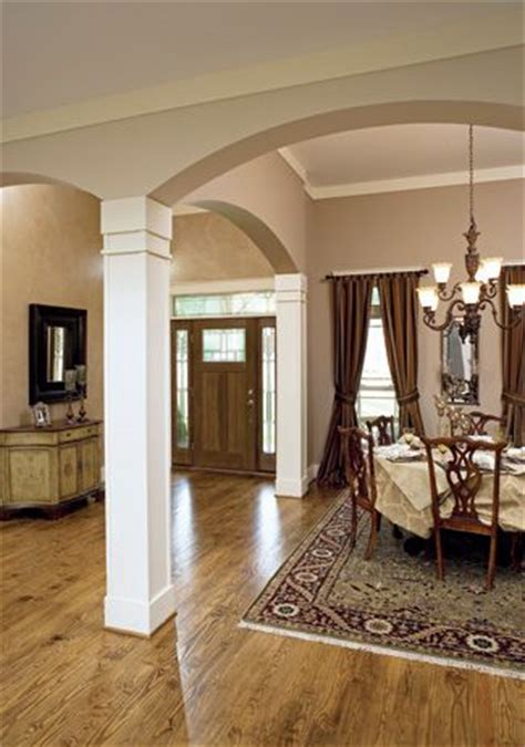 column interior columns open dining room home