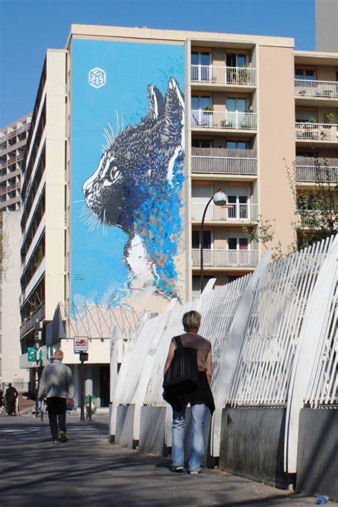 C215. Street Art, Le Chat - Paris 13ème