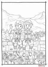 Lederhosen Ausmalbild sketch template