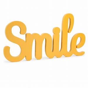 Deco Murale Vintage : d co murale smile jaune l 55 cm vintage maisons du monde ~ Melissatoandfro.com Idées de Décoration