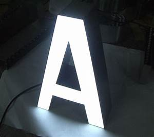 illuminated channel letters channel letters backlit With lighted letter a