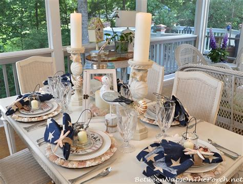 small living room arrangement ideas nautical tablescape with shell chargers and fish flatware