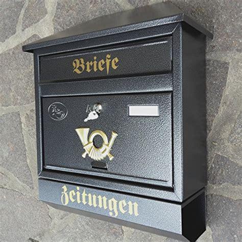 grosser briefkasten postkasten xxl anthrazit mit