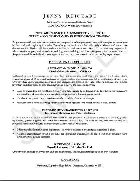 Entry Level Management Position Resume by 10 Popular Resume Entry Level Resume Exles Writing