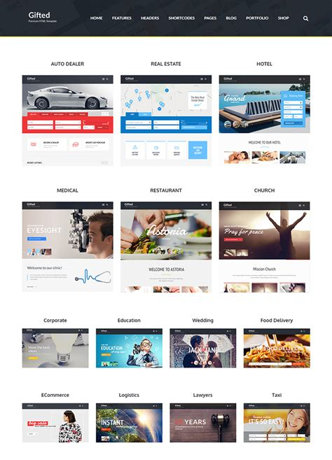 html5 template tag gifted html5 website template buy premium gifted html5 website template theem on