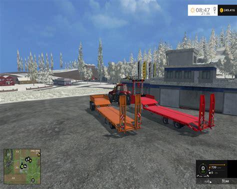 hanging ls lowes black m 252 ller low loader trailer v 1 0 farming simulator