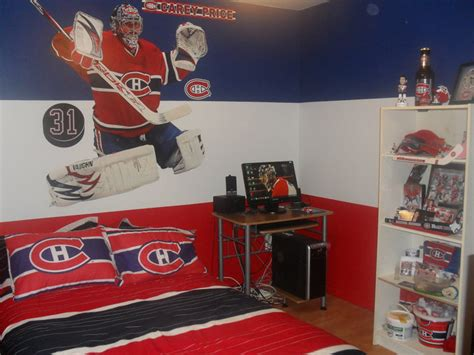 décoration chambre hockey canadien