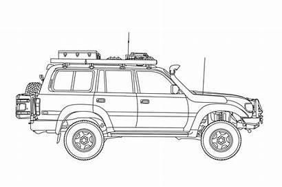 Toyota Cruiser Land 4x4 1994 Grid Jeep