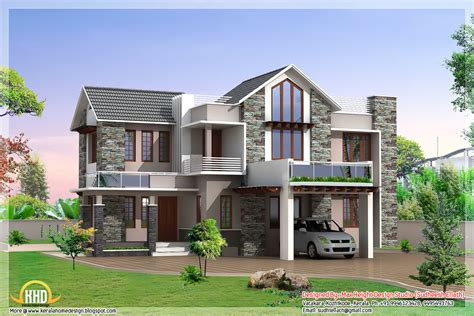 contemporary one house plans 3 beautiful modern home elevations kerala home design
