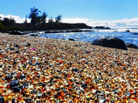 The Beach In Hawaii Made Entirely Out Of Sea Glass