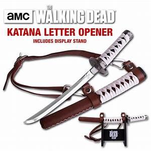 the walking dead samurai katana letter opener amc official With walking dead katana letter opener