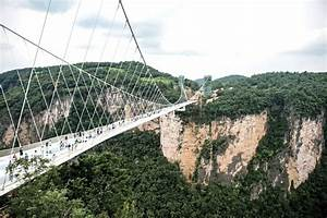 Longest glass bottom bridge opens in China