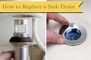 Replacing a sink drain pretty handy girl for How to replace drain in bathroom sink