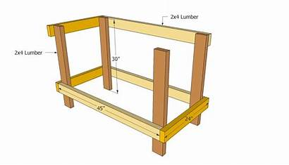 Workbench Plans Dimensions Diy Bench Woodworking Wooden