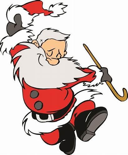 Santa Dancing Cartoon Clipart