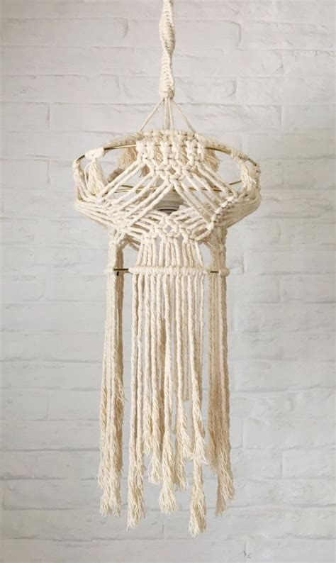 abat jour en macrame 1986 best weaving macrame images on