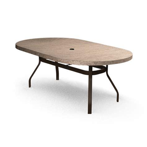 homecrest slate 44 quot x 84 quot oval dining table 374484dsl