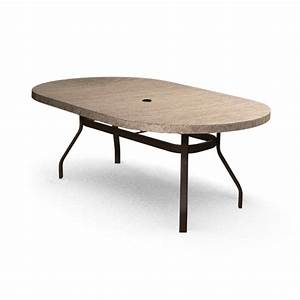 Homecrest slate 44quot x 84quot oval dining table 374484dsl for Slate dining table