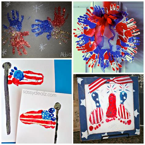 the cutest 4th of july handprint footprint crafts crafty 878 | 4th of july footprint handprint crafts for kids