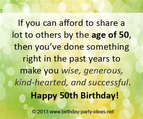 Inspirational Quotes For 50th Birthday Quotesgram
