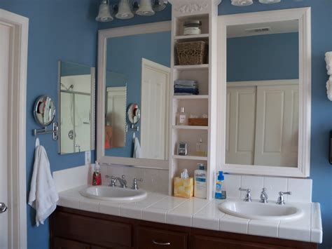 Framed Bathroom Mirrors Diy by Framed Bathroom Mirror My Husband Did This One Built The