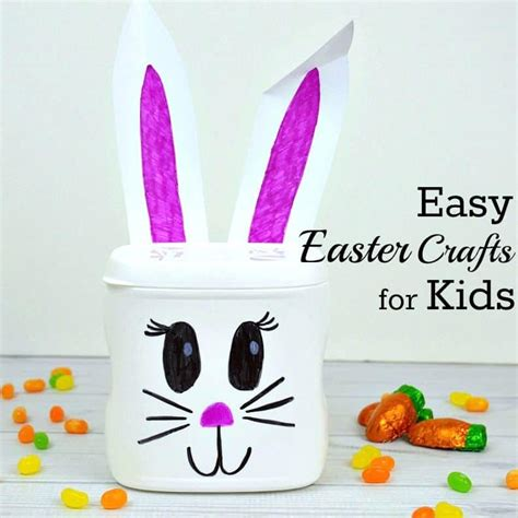 easy easter craft  kids   recycled  organized