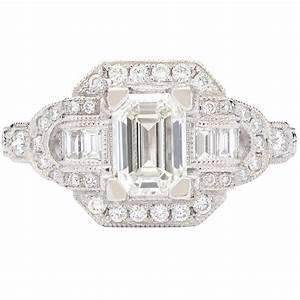 Traditional style emerald cut diamond ring at 1stdibs for Orthodox wedding rings for sale