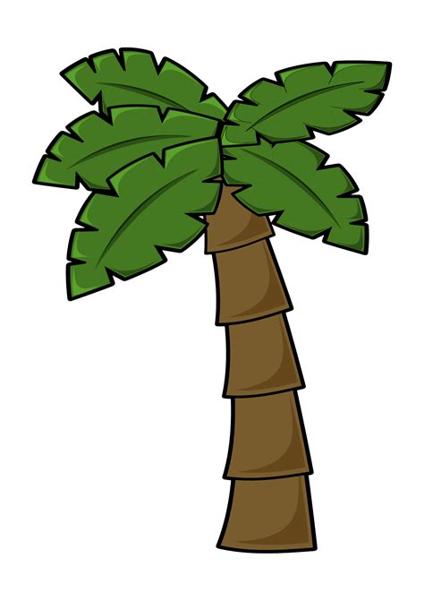 Clipart Palm Tree Palm Tree Clipart Simple Pencil And In Color Palm Tree