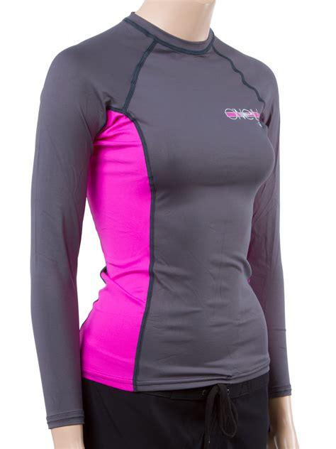 oneill womens long sleeve rashguard lycra shirt