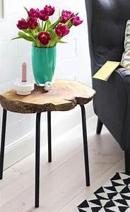 Tisch Aus Holzscheiben : beistelltisch aus baumscheibe ~ Cokemachineaccidents.com Haus und Dekorationen
