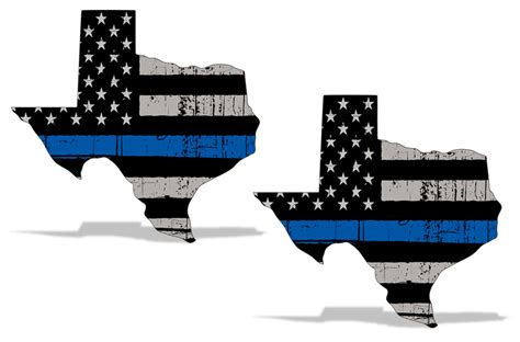 blue lives matter subdued american flag vinyl police