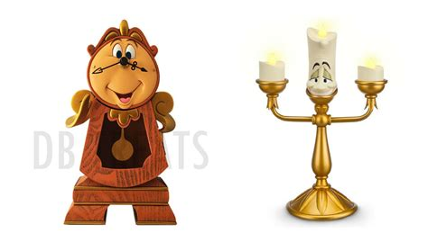 Beauty And The Beast Cogsworth Clock & Lumiere Light-up