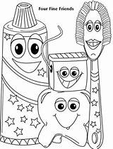 Coloring Pages Dental Health Toddlers Dentist Care Preschool Colouring Fun Sheets Teeth Toddler Tooth Activities Printable Fine Four Friends Books sketch template