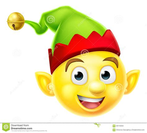 christmas emoji copy paste christmas elf emoticon stock vector image of christmas