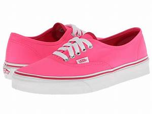 Vans Authentic™ Pop Neon Pink Zappos Free Shipping