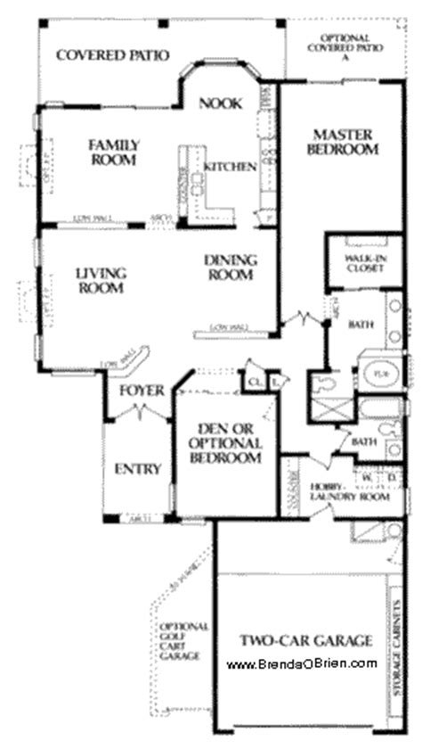 saddlebrooke floor plan fiesta model small