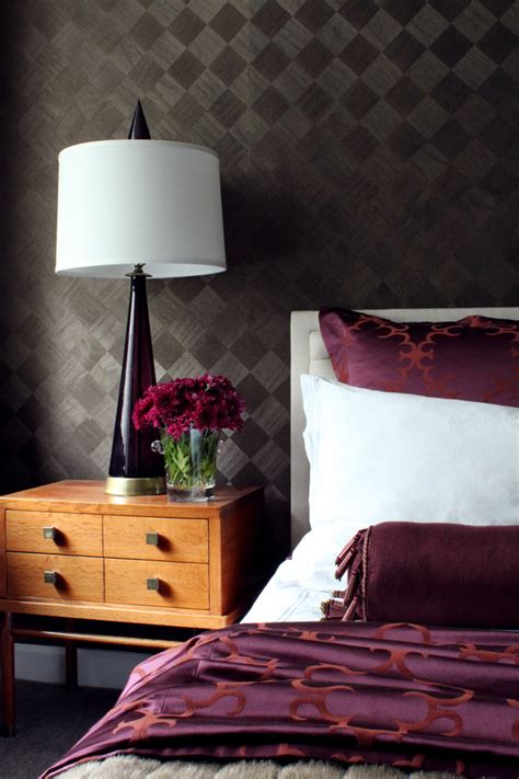stylish purple accent bedroom ideas interior god