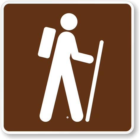 lg water trail signs hiking signs hiking trail symbols trail