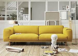 20 salons avec un canape jaune joli place With tapis jaune avec drap canapé convertible