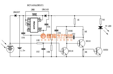 solar light led and light circuit circuit