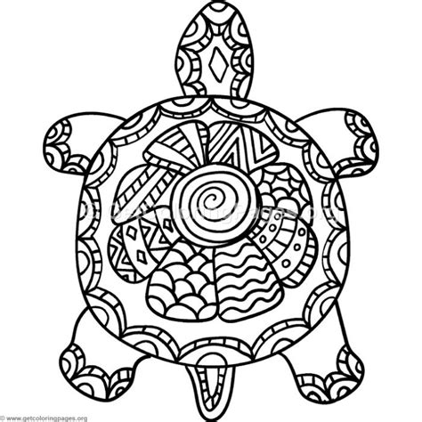 turtle zentangle coloring pages getcoloringpagesorg