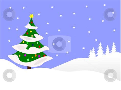 Winter Christmas Scene Clip Art Free