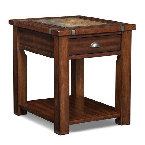 Slate Ridge End Table  Cherry  American Signature Furniture. Personalized Desk Set. 6 Drawer Dresser Tall. Ikea Home Office Desk. Glass Desk For Sale. Pool Tables At Sears. Sauder L Shaped Desk. Shoal Creek Desk. Most Expensive Office Desk
