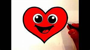 How to Draw a Cute Heart Smiley Face - YouTube