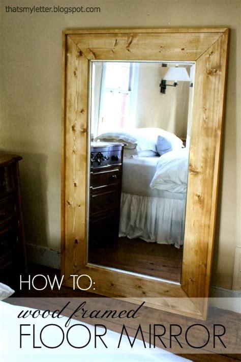 letter diy framed floor mirror