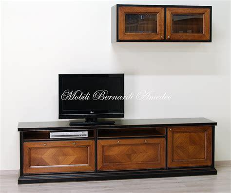 mobili per dvd mobile tv in legno massello base e pensile componibili